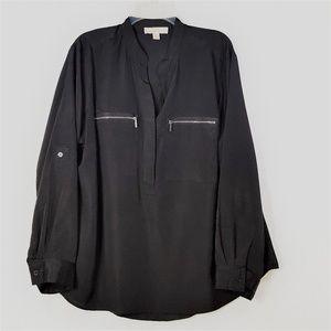 Michael Kors Long Sleeve Pullover Blouse